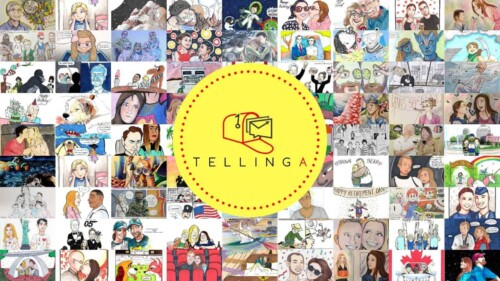 Tellinga: Have a story illustrated for someone you love.