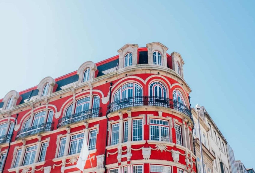 a red building in porto