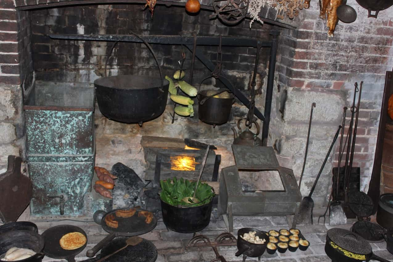 Slave quarters fireplace where the cooking was done at Waveland.
