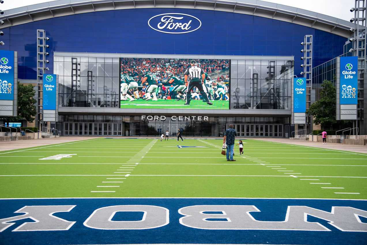 The massive Ford Center, home of the Dallas Cowboys in Frisco Texas. Fred Mays photo