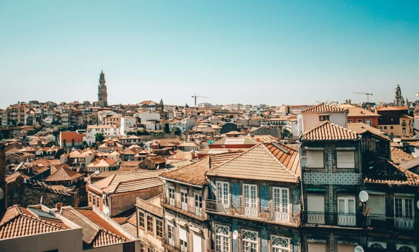 rooftops of Porto, Portugal.
