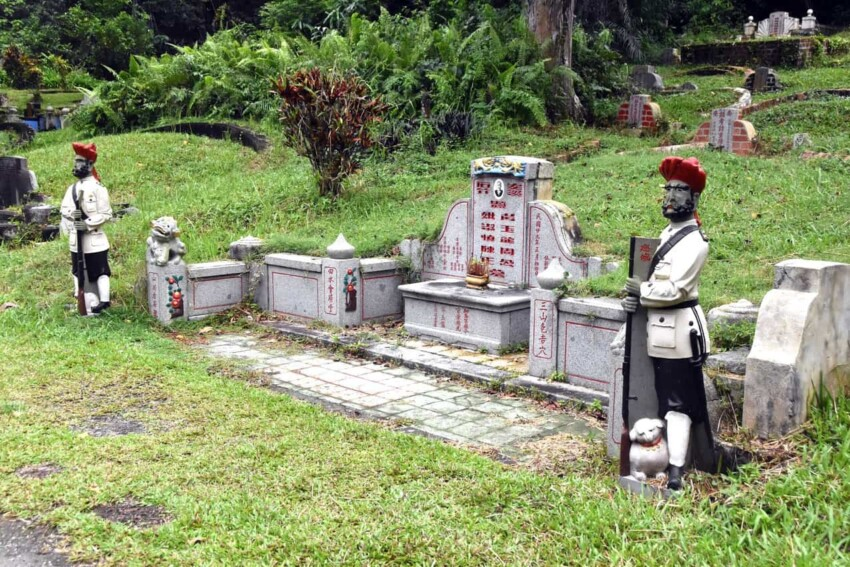 Bukit Brown Cemetery in Singapore is the largest Chinese cemetery outside of China.
