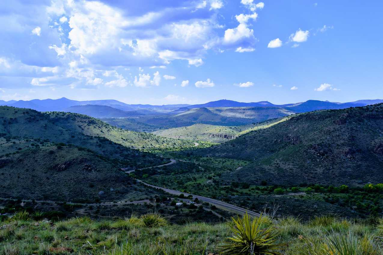 Davis Mountains with McDonald Observatory in distance. John Spaulding photos.