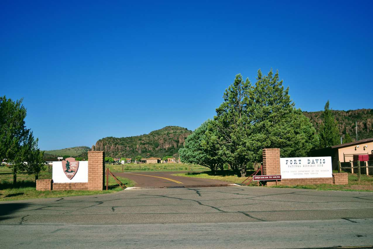 Entrance to Fort Davis historical Park