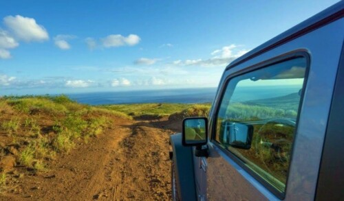 Heading out to Explore Lanai by Jeep