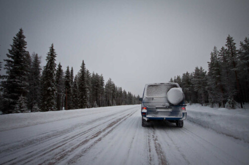 It took some practice to get used to driving on those roads in Sweden.