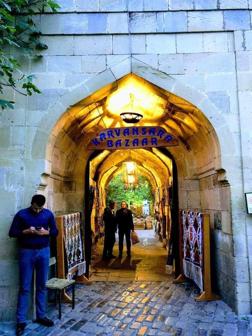 Entrance to the Karavanserai in Baku