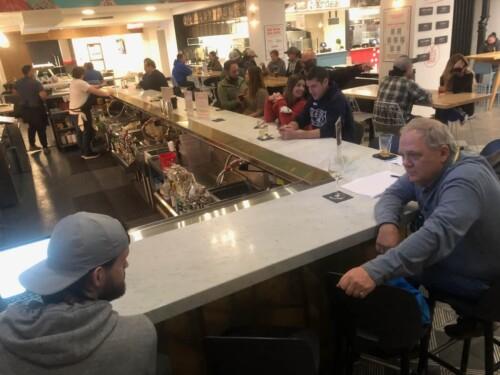 Chatting with Brad Owen at De.Co, in Wilmington DE.
