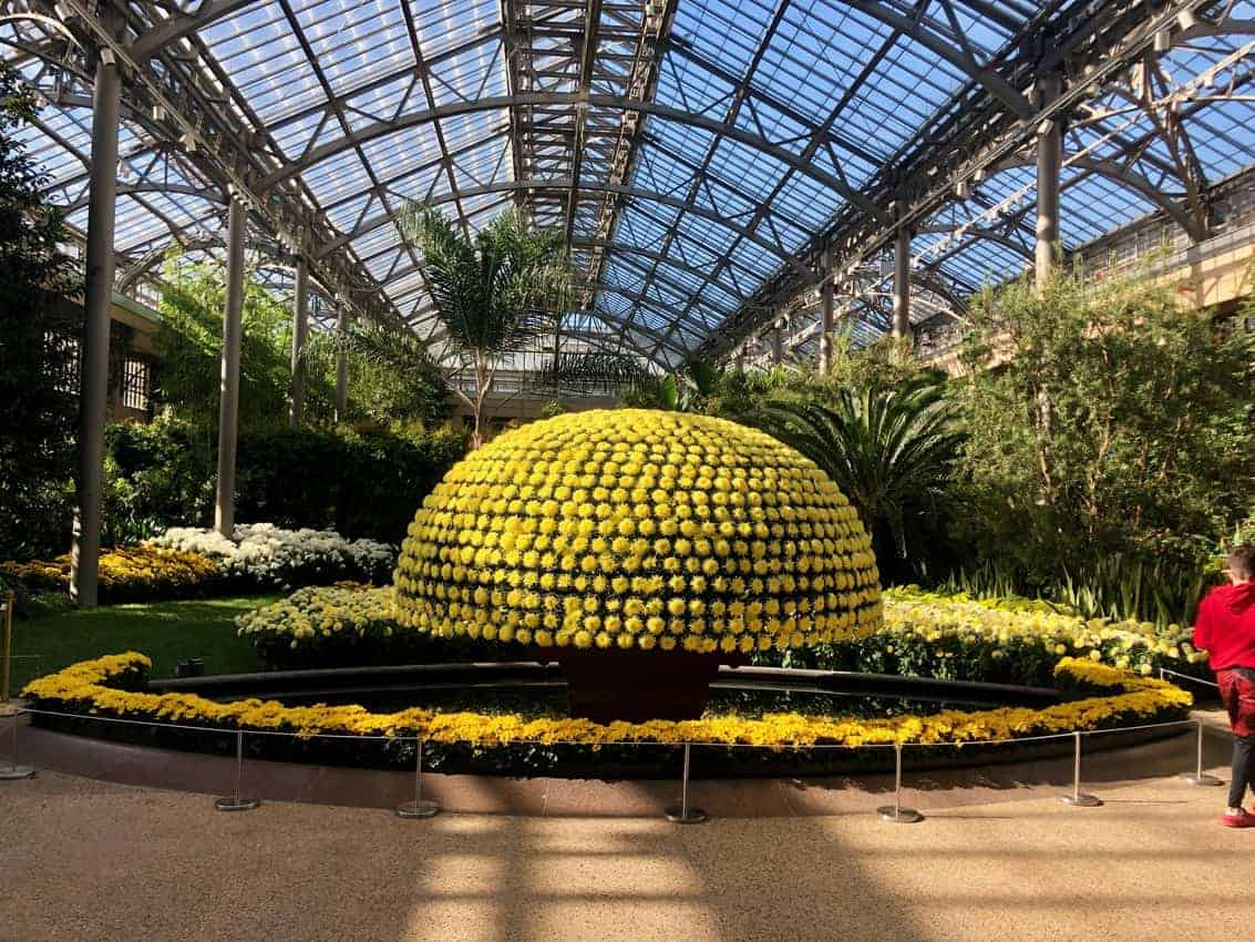 Longwood Garden's stunning conservatory in Kennett Square PA, near Wilmington.