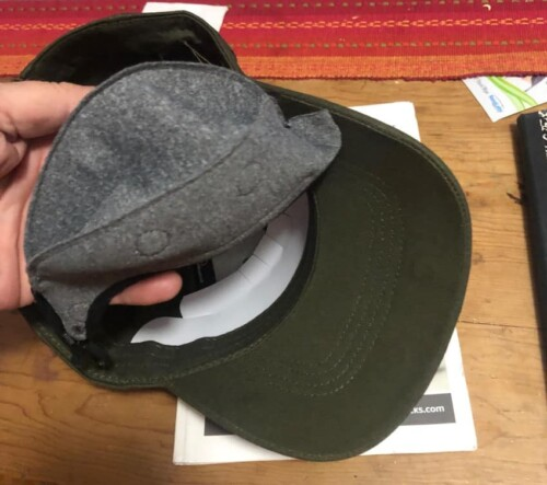 hat with a mask