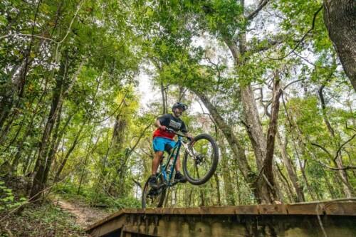 Mountain Biking in Tallahassee, Florida. Anietra Hamper photo.
