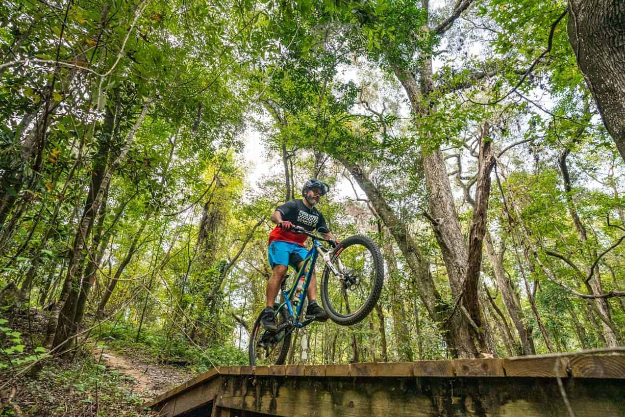 Mountain Biking in Tallahassee, Florida. Anietra Hamper photo.