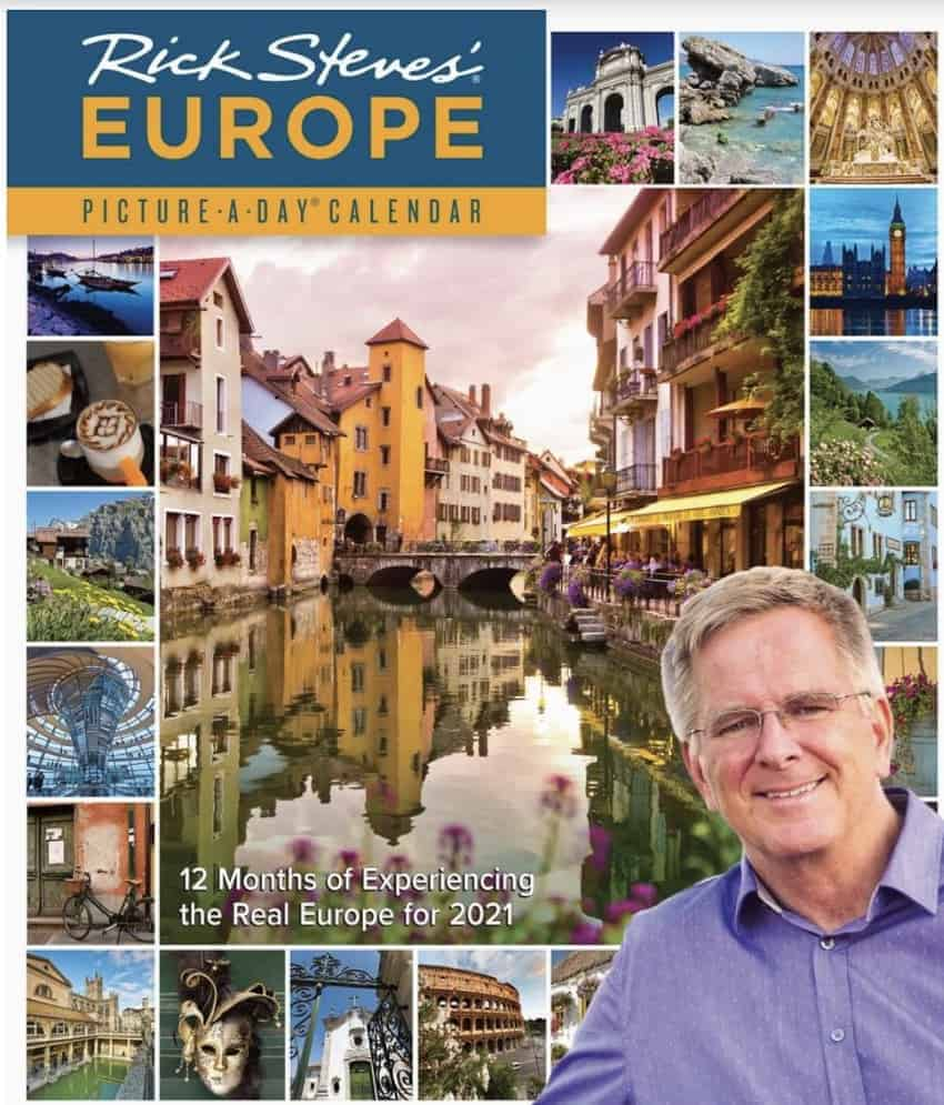 Rick Steves Page a day Europe calendar.