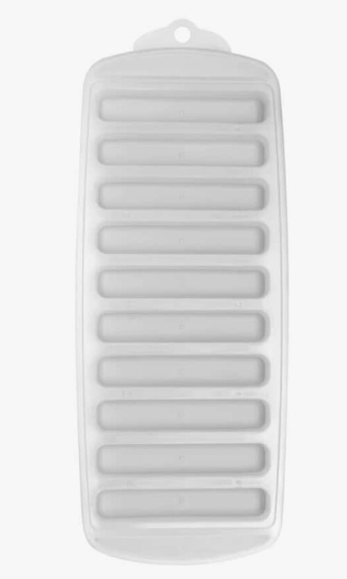 Slim ice cube tray for Bougie bottle