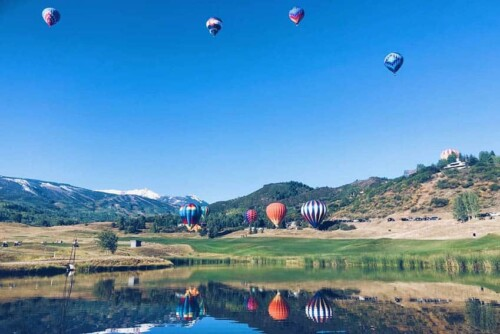 Snowmass Scenery with balloons