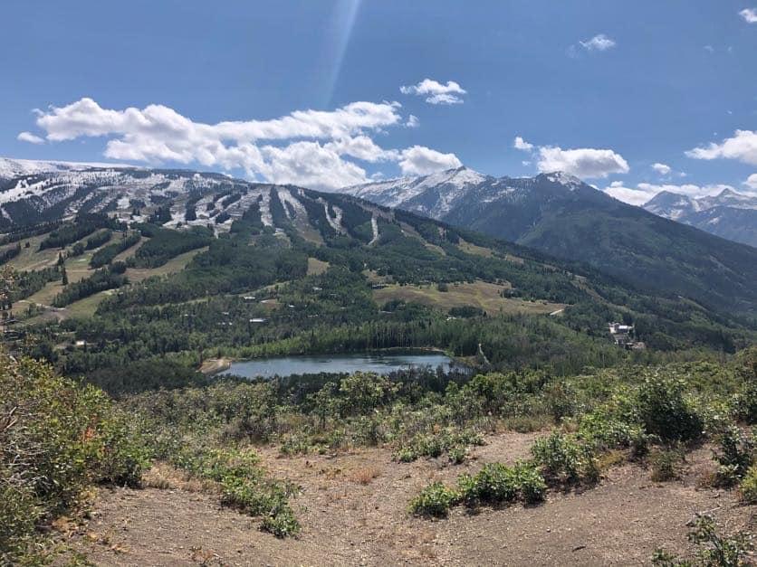 Snowmass ski trails in summer