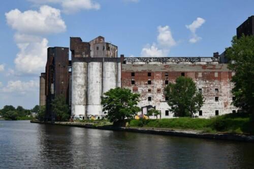 Grain elevator on the Buffalo River Tour.