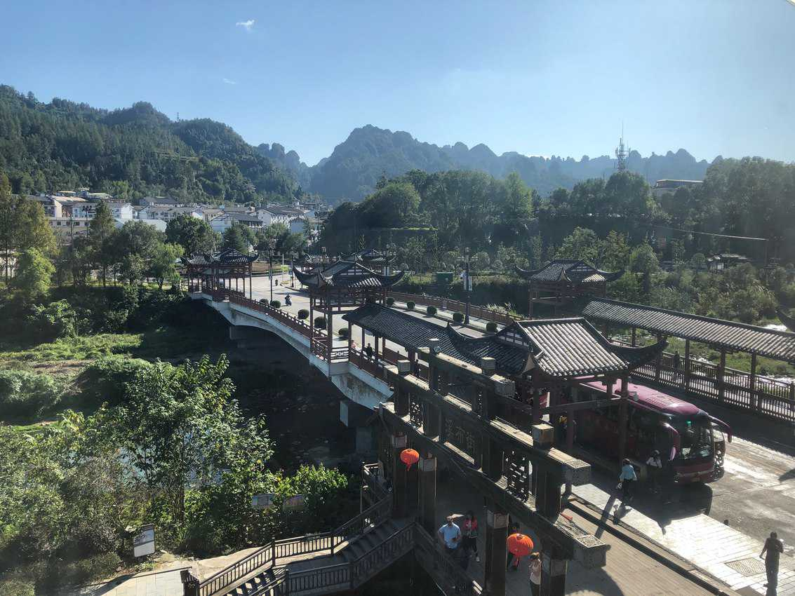 Wulingyuan town: tourists yes, but a pretty authentic town too.