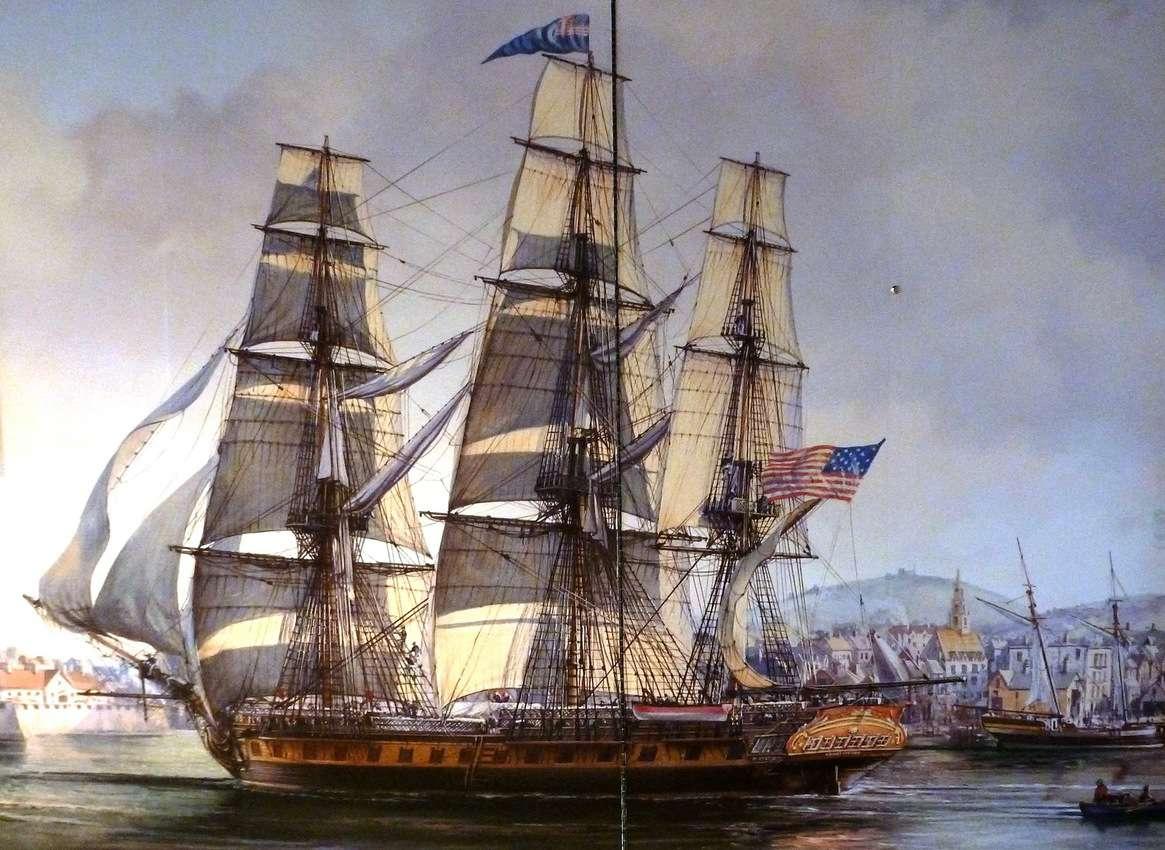 USS Constitution Museum under sail