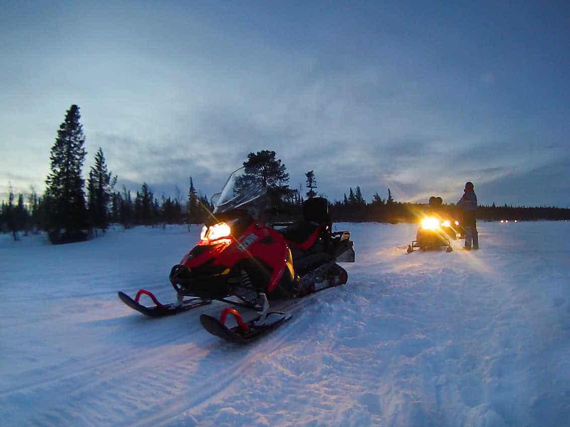 Jukkasjaervi/Kiruna - We enjoyed those rides through forests...