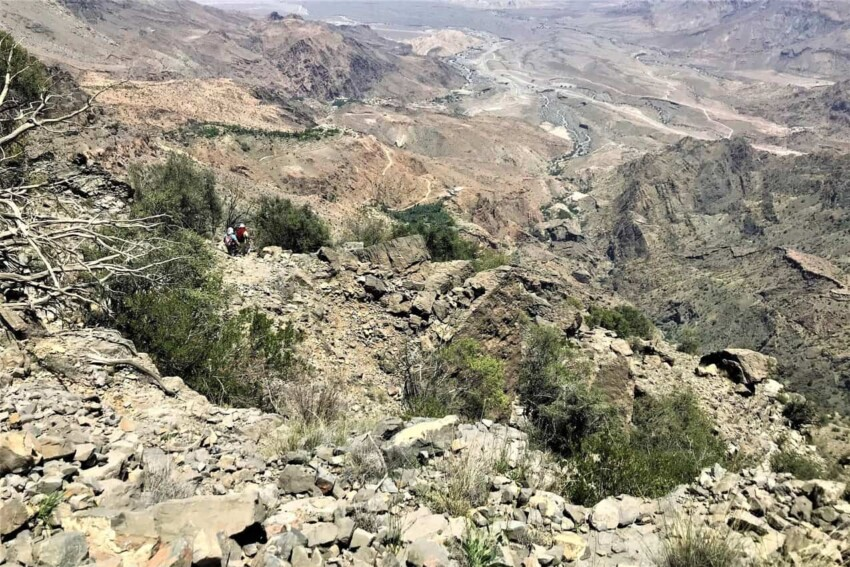 the middle point of the hike in Wakan