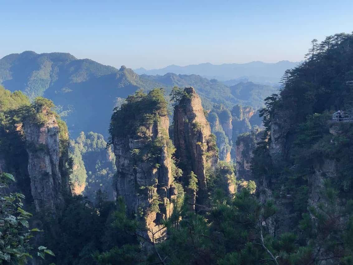 the pinnacles of Zhangjiejie