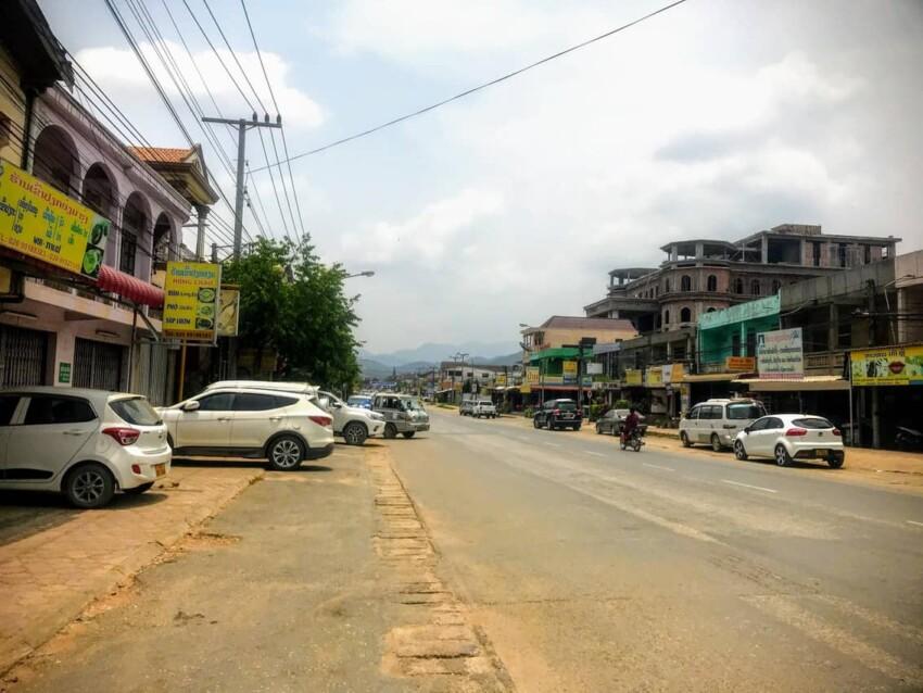 Streets of Phonsavan, Laos.
