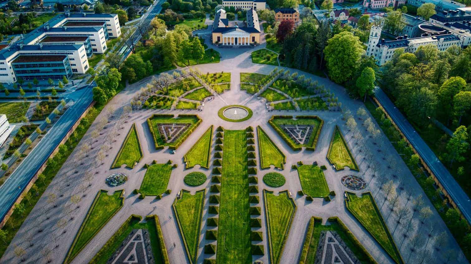 Aerial Linneanum The geometric features of this garden make it so appealing to see, from literally any angle