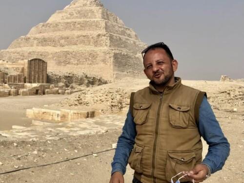 Mohamed Zezo, Egyptologist guide, who goes by Zezo