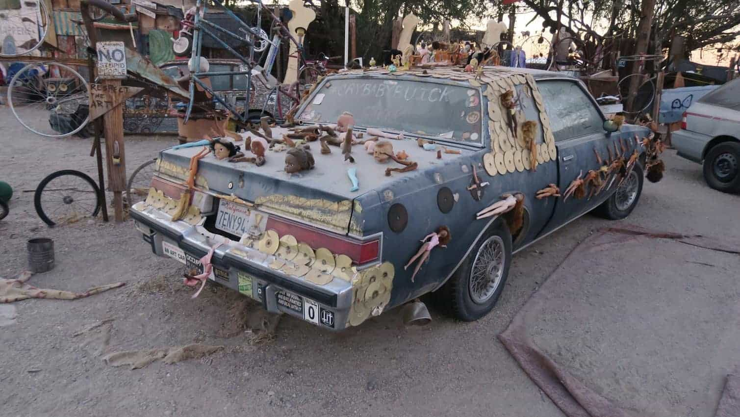 A strange art car at Slab City California.