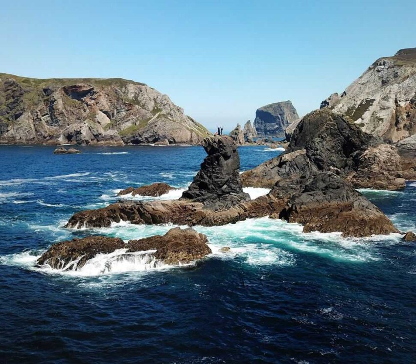 The rocky shore at Donegal Ireland. Perfect for Valentine's adventure!