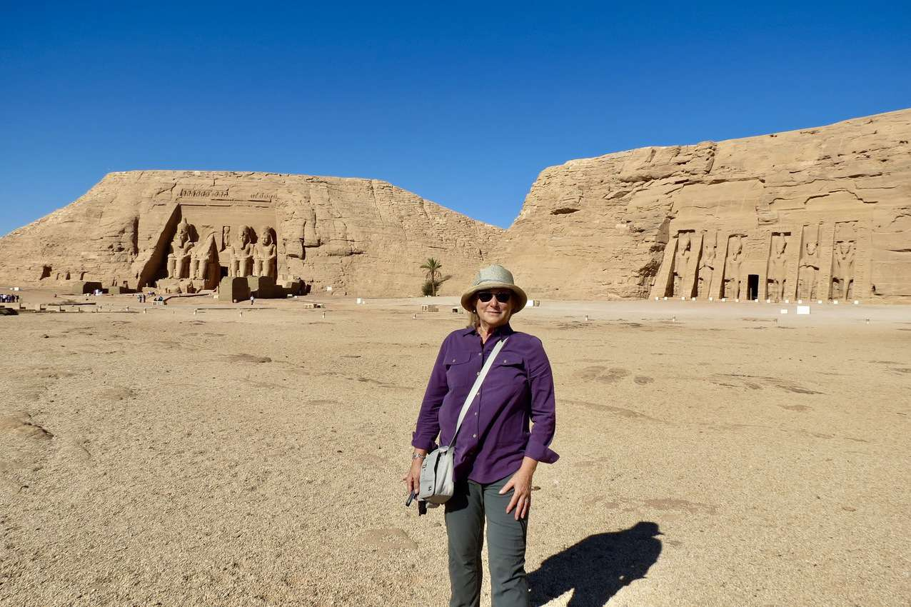 Outside of the remarkable twin temples at Abu Sempel Egypt.
