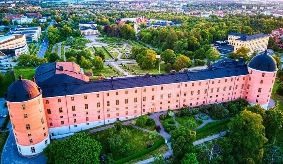 upsala castle aerial
