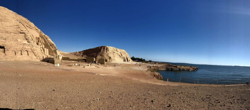 In the 1960s, as Lake Nasser threatened to engulf the temples, UNESCO cut them from the mountain and moved them to an artificial cliff above their original position.
