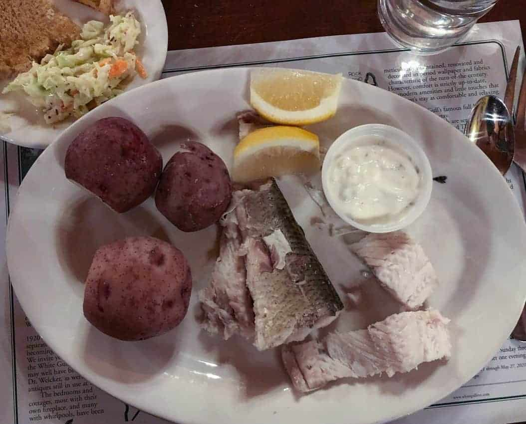 whitefish oil with potatoes