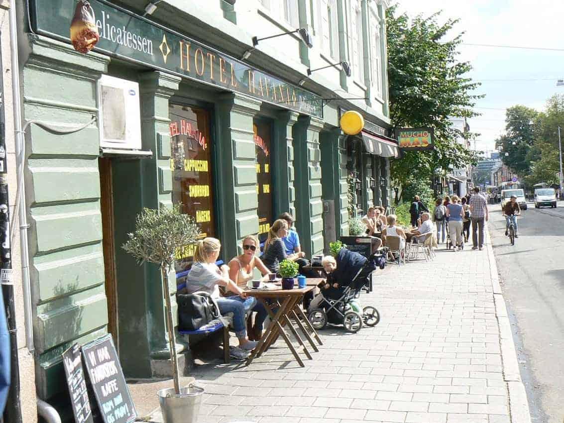 Grunerlokka neighborhood in Oslo, Norway.