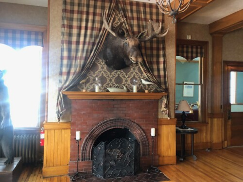 Inside the cozy Rangeley Inn, in the center of Rangeley, Maine.
