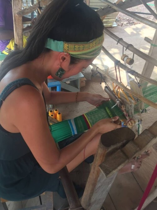 I took a kente-weaving course in Ho, learning from local artisans the rhythm and various patterns of their traditional craft.