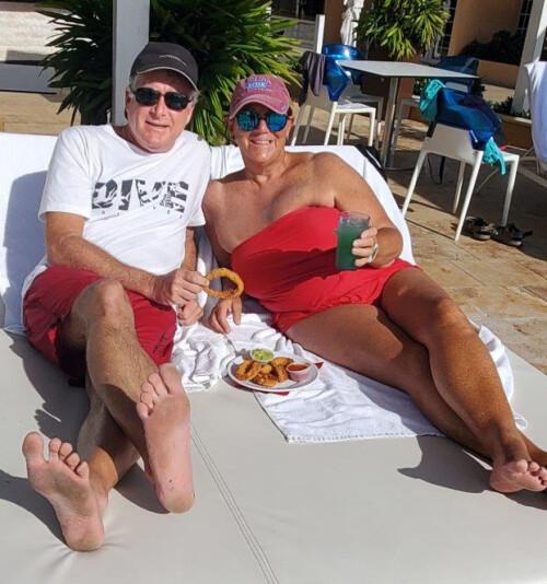 Lunch break, Aruba style