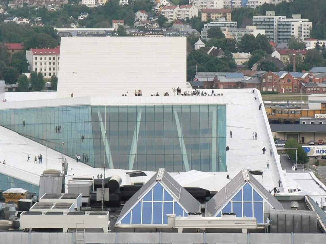 Oslo Opera House where people can walk on the roof. Max Hartshorne photo.