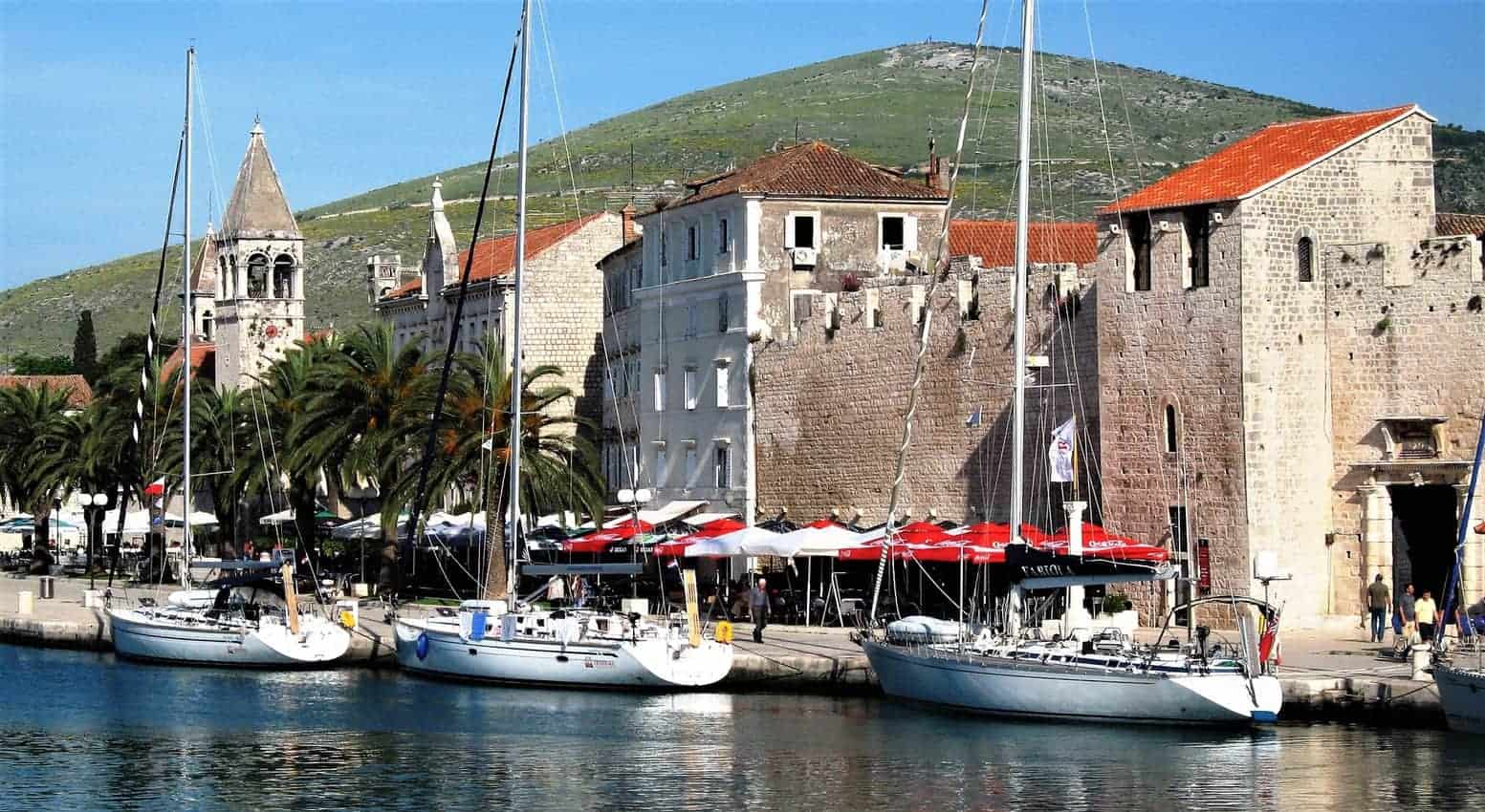 Trogir Croatia, walled town built on an island and a UNESCO World Heritage site.