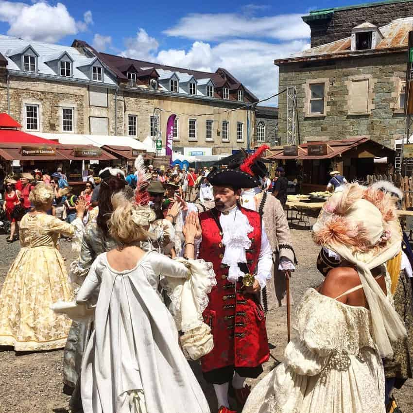 The Upper Town is called New France and retains much of its early architecture. It is especially colorful during the New France Festival, to be held Aug. 5-8, 2021. https://nouvellefrance.qc.ca/en/