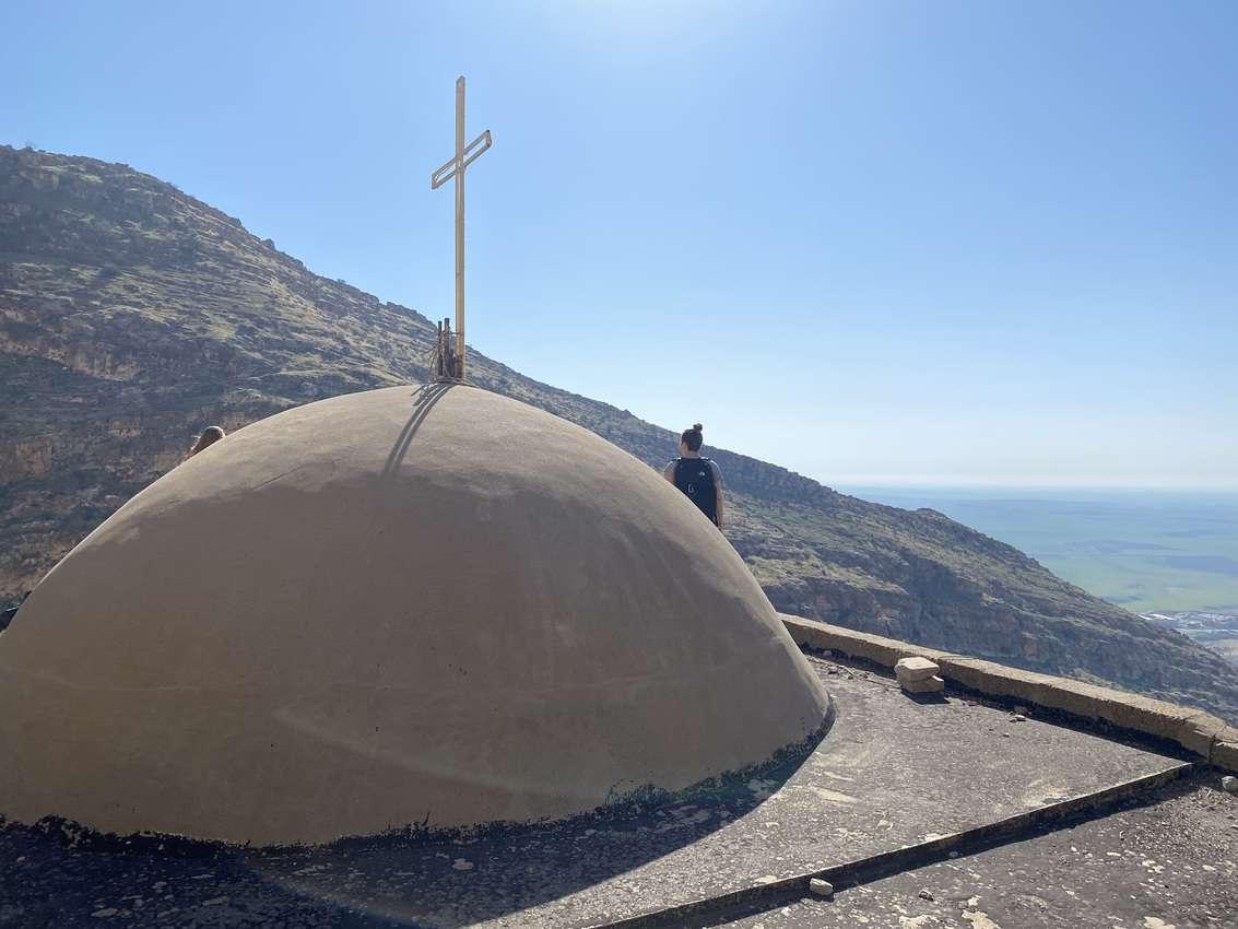 The dome atop the main chapel overlooks Alqosh.