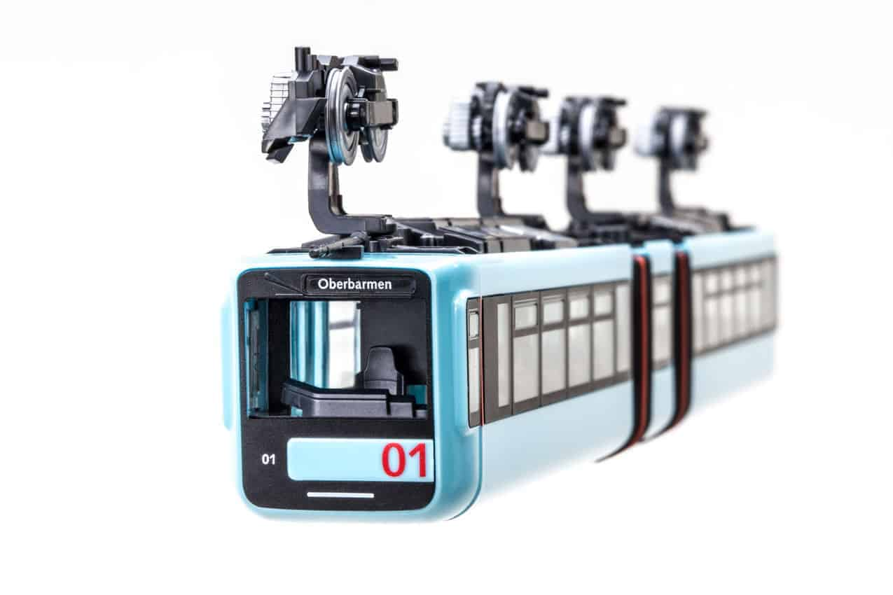 Schwebebahn model trains are a popular item in Germany.