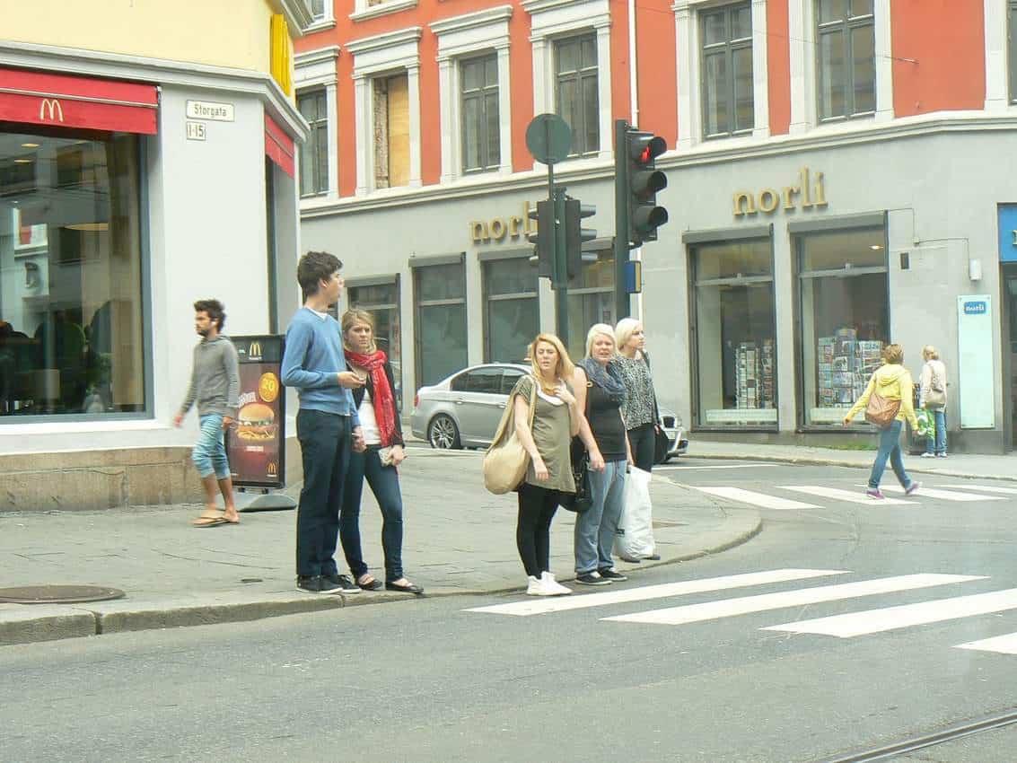 A street in the Grünerløkka neighborhood in Oslo Norway.