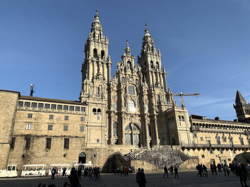 The Cathedral of Santiago is the destination for pilgrims walking the Way of St. James.