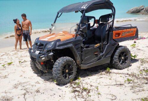 Off-roading an Antigua beach