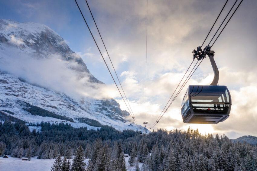 Eiger Express Grindelwald © Jungfraubahnen 2019. V-Cableway Project.
