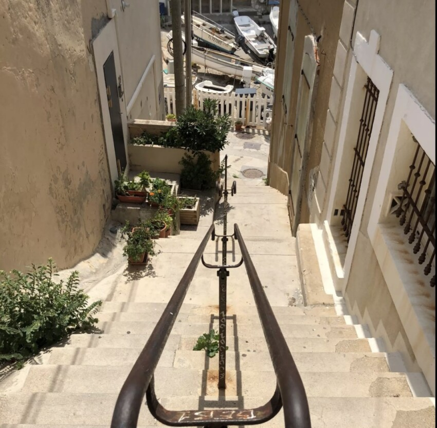 Stairs of the Port of Malmousque © Y.Navarro