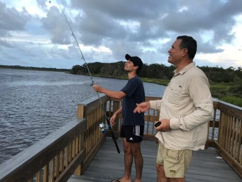 Cast your line from the Edwards Creek Day-Use Area at the Betz-Tiger Point Preserve. Felicia Boyd photo.